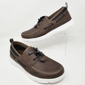 NEW Speedo Men's Port Water Boat Shoes Brown